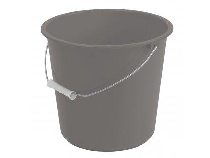 Šedý plastový kbelík Simi 5 l JOTTA