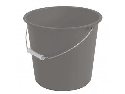 Šedý plastový kbelík Simi 10 l JOTTA