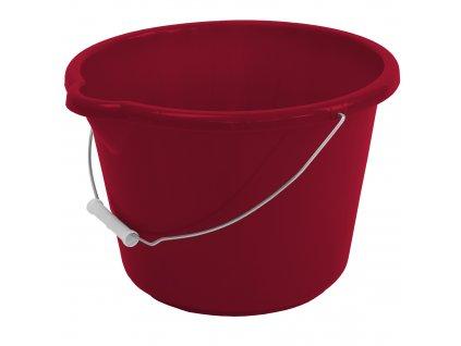 Malinově červený plastový kbelík Simi 12 l JOTTA