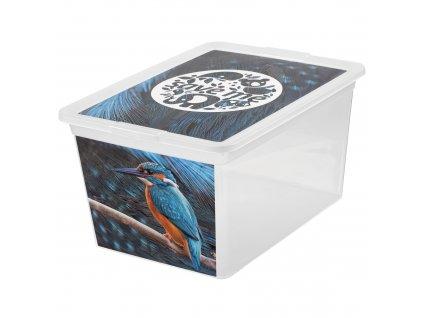 Box s víkem X Box Deco Ledňáček 15 l BRANQ
