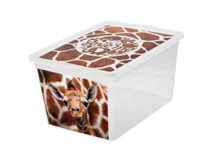 Box s víkem X Box Deco Žirafa 15 l BRANQ