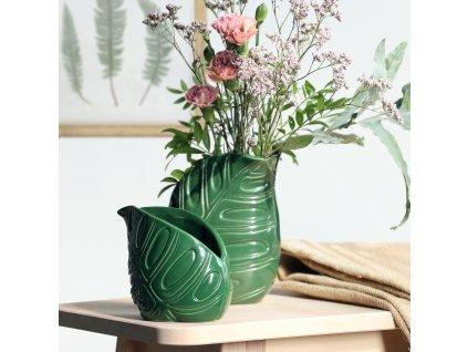 Keramická váza Leaf  12,5 x 8,5 x 11,5 cm MY HOME