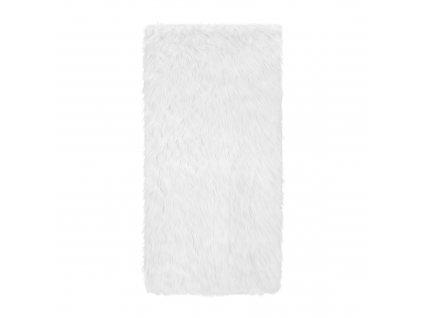 Bílý chlupatý kobereček 80 x 120 cm MY HOME