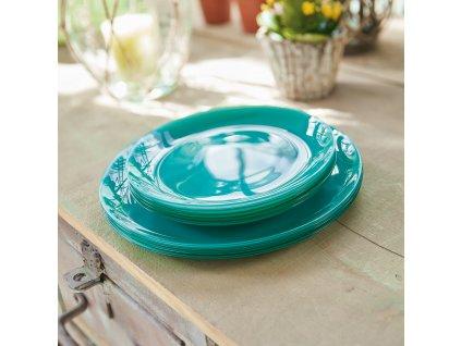 Mělký talíř Arty Mint Green 26 cm LUMINARC