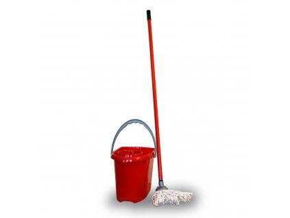 Sada mop s tyčí 110 cm a kbelíkem 10 l mix barev JOTTA