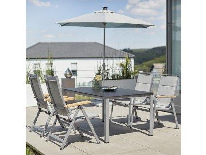 Zahradní stůl Cubic  Silver / Antracit 160 x 95 cm KETTLER