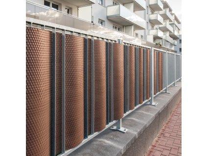 Balkónová zástěna z technorattanu Tress Brown 1 x 3 m PATIO