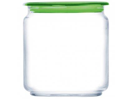 Skleněná nádobka s víčkem Plano Green 750 ml LUMINARC
