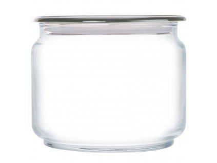 Skleněná nádobka s víčkem Plano Gray 500 ml LUMINARC