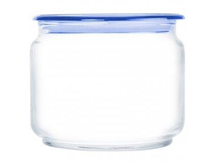 Skleněná nádobka s víčkem Plano Blue 500 ml LUMINARC