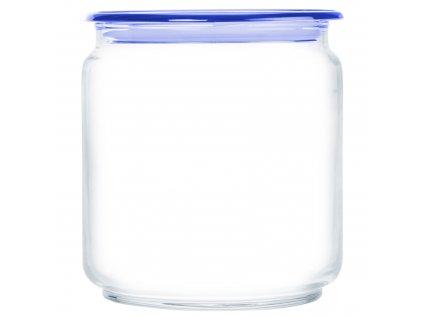 Skleněná nádobka s víčkem Plano Blue 750 ml LUMINARC