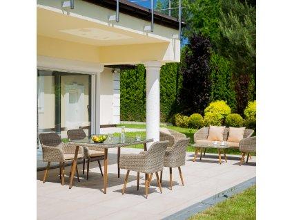 Souprava zahradního nábytku z technorattanu Marlene Ash Chair PATIO
