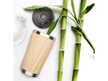 Termohrnek bambusový 450 ml
