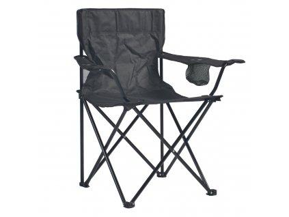 Černá skládací rybářská židle 52 x 82 x 82 cm PATIO