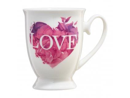 Porcelánový hrnek Love Letters Pink Heart 350 ml AMBITION