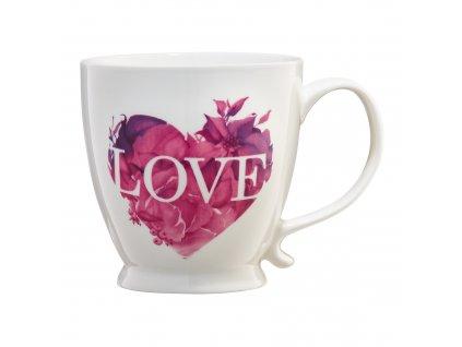 Porcelánový hrnek Love Letters Pink Heart 480 ml AMBITION
