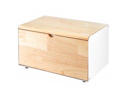 Bambusovo-kovový chlebník Scandi Cream 35,5 x 21,5 cm AMBITION