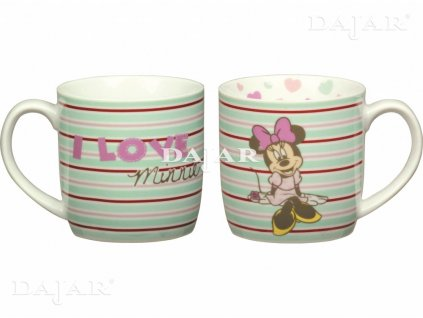 Porcelánový hrnek Minnie Sweet Stripes 300 ml DISNEY
