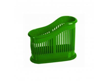 Dvoukomorový odkapávač na příbory Soleo Green DOMOTTI