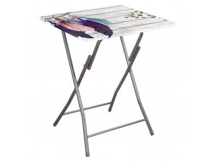 Skládací zahradní stůl Flower Feather 60 x 60 cm PATIO