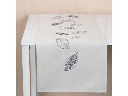 Dekorační běhoun / štola z polyesteru Leaf 40 x 150 cm AMBITION