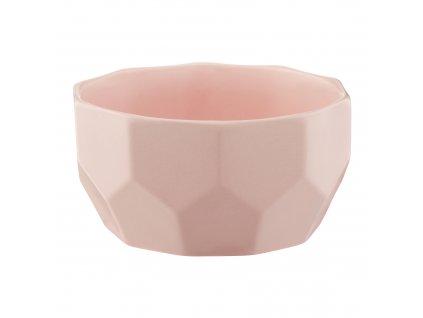 Porcelánová salátová mísa Diamond Pink 13 cm AMBITION