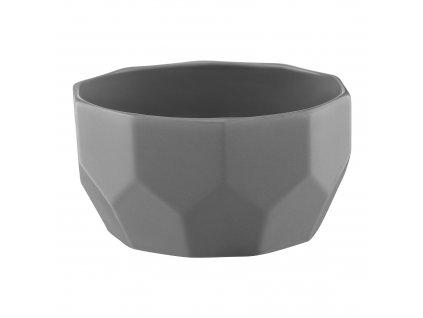 Porcelánová salátová mísa Diamond Light Gray 13 cm AMBITION