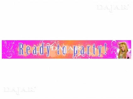 Narozeninový banner Hannah Montana DISNEY