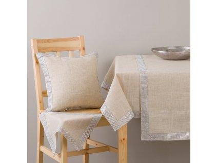 Dekorační ubrus z polyesteru Decor Silver 130 x 160 cm AMBITION
