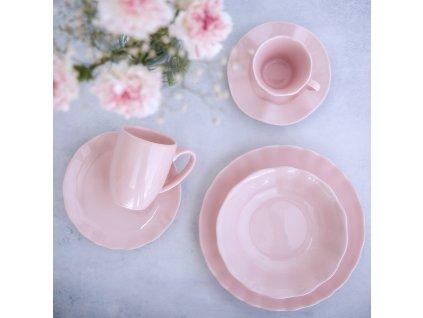 Jídelní servis Diana rustic Pink 36-dílů AMBITION