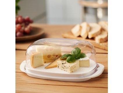 Plastová máselnice Fresh White 18 x 9,5 cm ROTHO