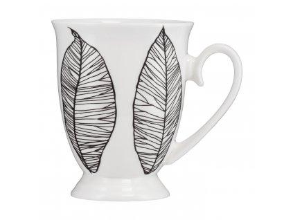 Porcelánový hrnek Diana Black Leaves 300 ml AMBITION