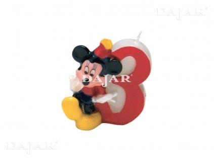 Narozeninová svíčka Mickey Mouse Club 3 years DISNEY