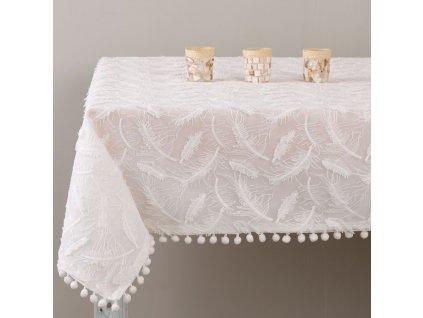 Dekorační ubrus z polyesteru Lovely Feather 160 x 280 cm AMBITION