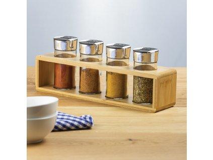 Sada kořenek s bambusovým stojánkem Spice 5-dílů  AMBITION