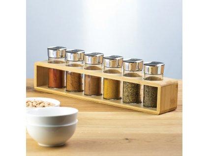 Sada kořenek s bambusovým stojánkem Spice 7-dílů AMBITION