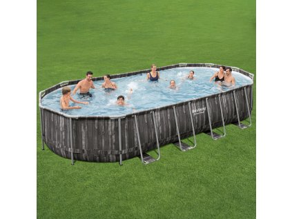 Zahradní bazén s rámem Power Steel Oval 732 x 366 x 122 cm 25495 l BESTWAY