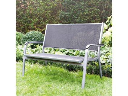 Hliníková zahradní lavička Basic Plus Antracit Silver KETTLER