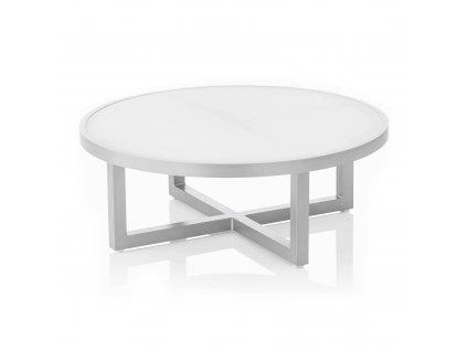 Stůl se skleněnou deskou Ego Silver 92 x 92 x 33 cm KETTLER