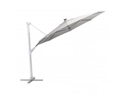 Zahradní slunečník s osvětlením Easy Swing LED Silver Gray 3,5 m KETTLER