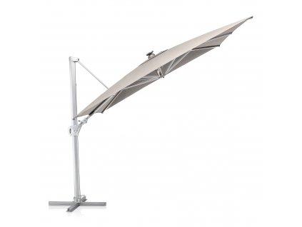 Zahradní slunečník s osvětlením Easy Swing LED Silver Gray 3 x 3 m KETTLER