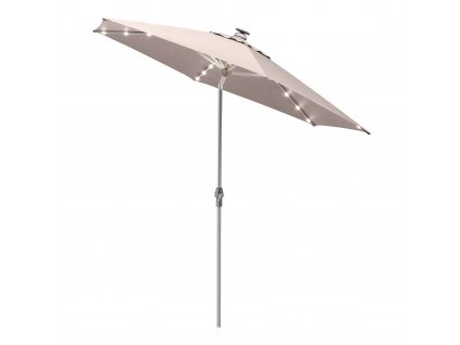 Zahradní slunečník s osvětlením Easy Allround LED Silver Taupe 3 m KETTLER