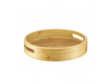 Kulatý bambusový tác Natural 25 cm AMBITION