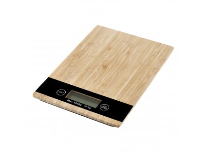 Bambusová kuchyňská váha Natural 23 x 16 cm AMBITION