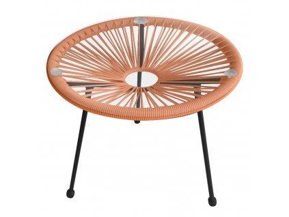 Oranžový zahradní stolek Arthur 48 cm PATIO