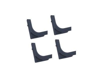 Sada 4 rohových násadek na nožky křesla / lehátka / lůžka ø 18 mm PATIO