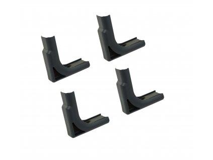 Sada 4 rohových násadek na nožky křesla / lehátka / lůžka 36 x 18 mm PATIO