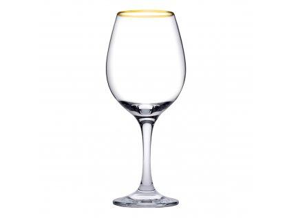 Sada 6 sklenic na víno Amber Gold 365 ml PASABAHCE
