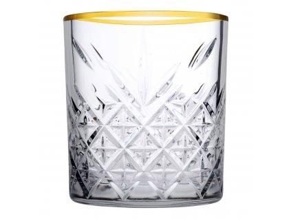 Sada 4 nízkých sklenic Timeless Gold Ring 345 ml PASABAHCE
