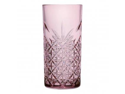 Sada 4 vysokých sklenic Timeless Pink 450 ml PASABAHCE